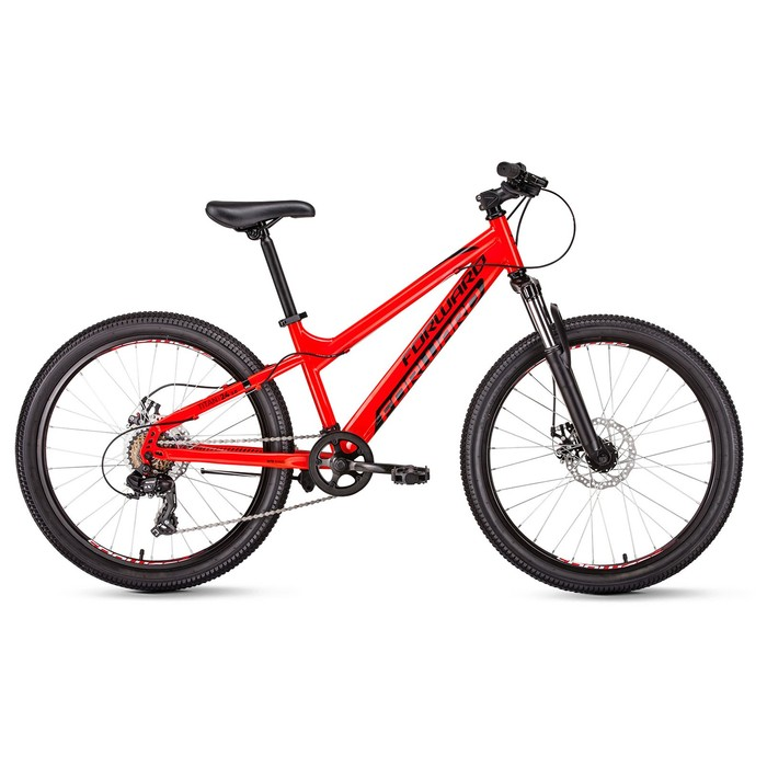 "Велосипед 24"" Forward Titan 2.0 disc, 2020, цвет красный, размер 13"""