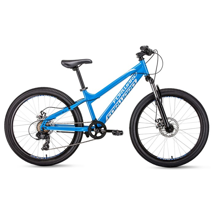 "Велосипед 24"" Forward Titan 2.0 disc, 2020, цвет синий, размер 13"""