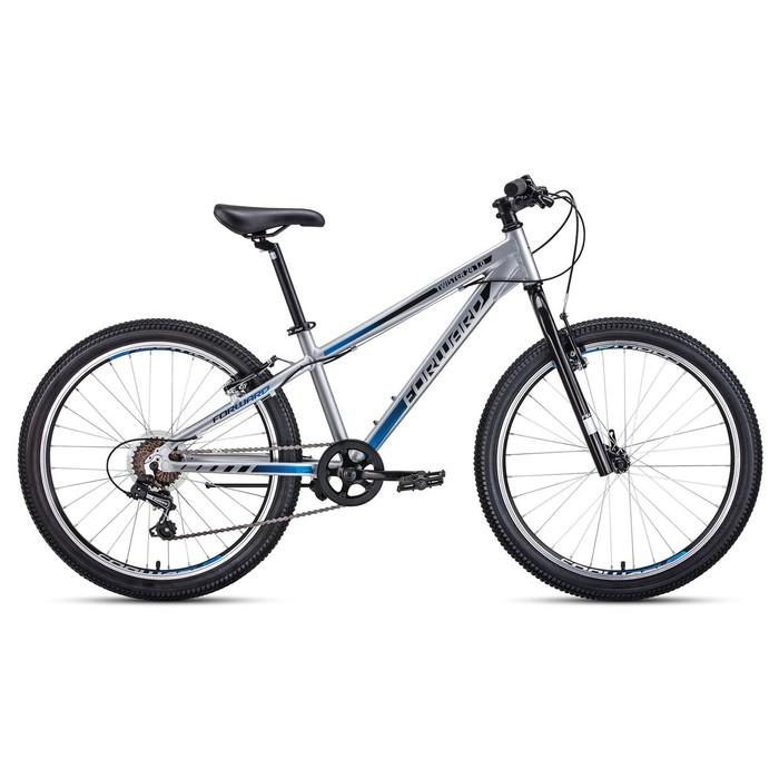 "Велосипед 24"" Forward Twister 1.0, 2020, цвет серый/чёрный, размер 13"""