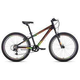 """Велосипед 24"""" Forward Twister 1.0, 2020, цвет черный/оранжевый, размер 13"""""""