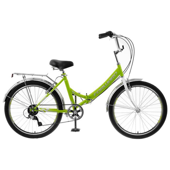"Велосипед 24"" Forward Valencia 2.0, 2020, цвет зелёный/серый, размер 16"""