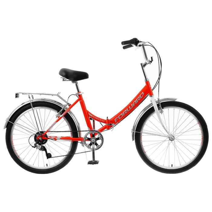 "Велосипед 24"" Forward Valencia 2.0, 2020, цвет красный/серый, размер 16"""