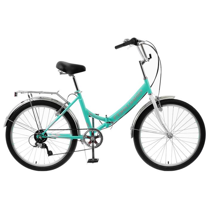 "Велосипед 24"" Forward Valencia 2.0, 2020, цвет мятный/серый, размер 16"""