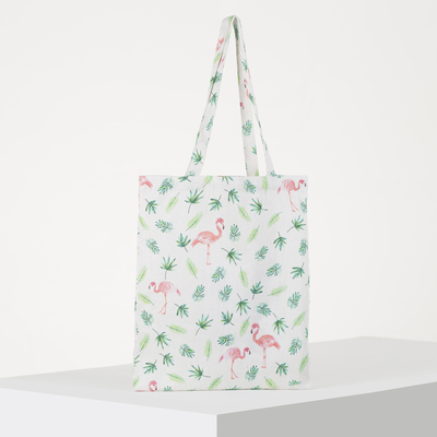 Textile bag Flamingo 37*1*38 Department zip, no padding, white