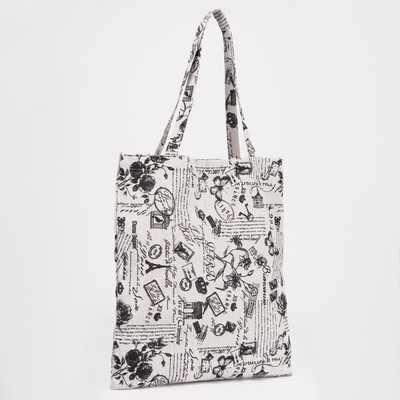 Bag textile Cacti, 37*1*38 Department zip, no padding, white