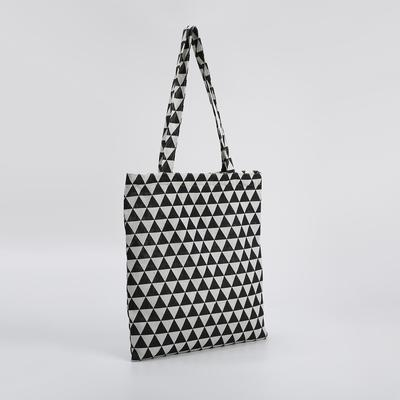 Bag, textile, Abstract, 37*1*38 Department zip, no padding, white