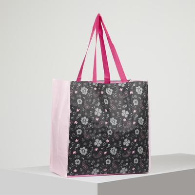 Shopping bag with Cucumbers, 40*17*40cm, without zipper, black