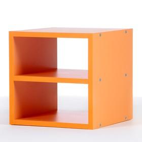 Полка-ящик для стеллажа  Кубик Рубик, Оранжевый
