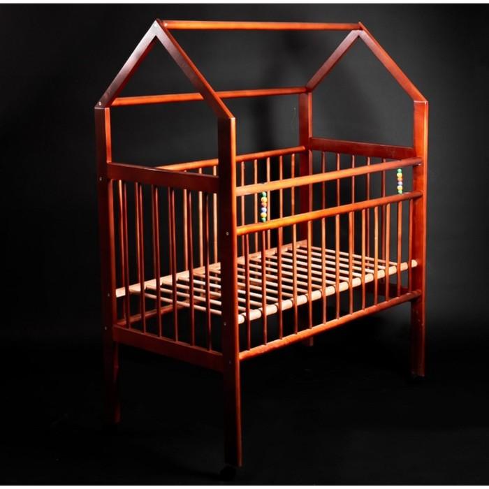 Кровать детская Женечка-8 домик, цвет орех