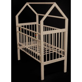 Кровать детская Женечка-8 домик, цвет натуральный