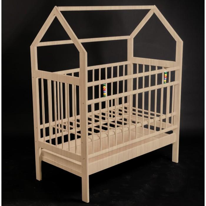 Кровать детская Женечка-10 домик,ящик, цвет натуральный