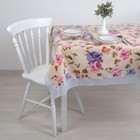 """The oilcloth a dining room non-woven fabric (roll 10 tablecloths 140х180 cm) """"Peonies"""""""