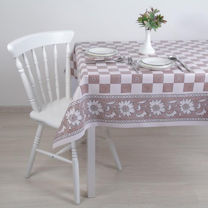 """Клеенка столовая на ткани (рулон 20 метров), ширина 137 см """"Шахматка"""""""