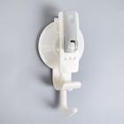 Крючок на вакуумной присоске «Универсал», цвет белый
