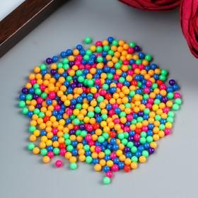 """Набор декора для творчества пластик """"Разноцветные шарики"""" 20 гр d=0,4 см"""