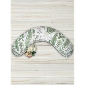 Наволочка к подушке для беременных Soft Collection, размер 25×170 см, папоротники