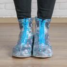 "Shoe covers ""Sea theme"" Size L. Worn on Shoe size 33-34."
