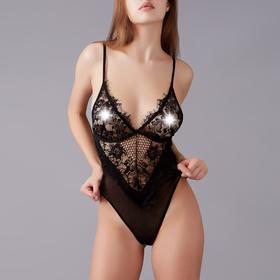 Bodysuit erotic LOVE TIME, size M, color black
