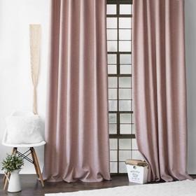 Комплект штор «Конни», размер 200 х 270 см - 2 шт, подхват - 2 шт см, цвет розовый