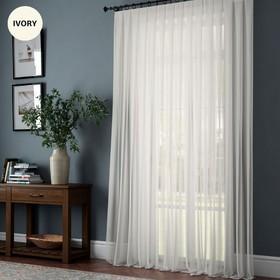 Портьера «Эйприл +», размер 300 х 270 см, цвет айвори
