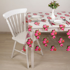 """Oilcloth PVC (roll of 30 metres), width: 137cm, thickness 0.08 mm """"Peonies"""""""