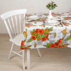 """Oilcloth PVC (roll of 30 metres), width: 137cm, thickness 0.08 mm """"Poppies"""""""