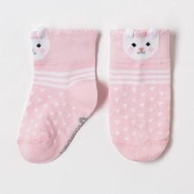 """Носки Крошка Я """"Зайчишка"""", розовый, 12-14 см"""