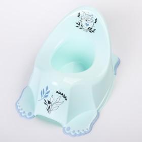 Горшок туалетный детский «Лисёнок», антискольз., цвет светло-зеленый