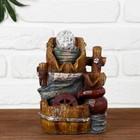 "Fountain ""Barrels jug"" 11х14х19 cm (with lighting)"