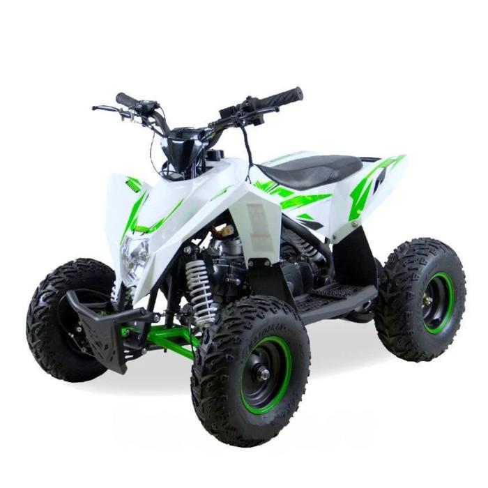Детский квадроцикл бензиновый MOTAX GEKKON 70cc 1+1 (реверс), бело-зеленый