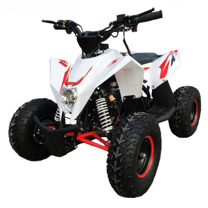 Детский квадроцикл бензиновый MOTAX GEKKON 70cc 1+1 (реверс), бело-красный