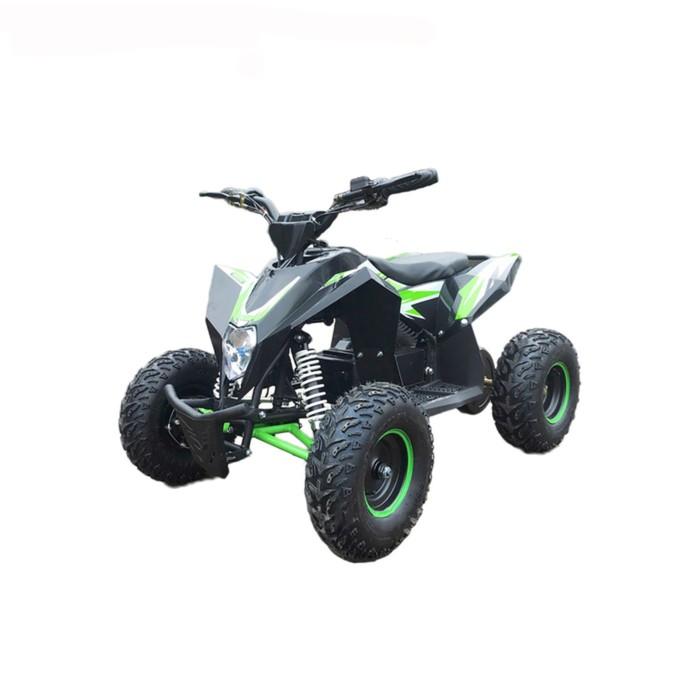 Детский квадроцикл бензиновый MOTAX GEKKON 70cc 1+1 (реверс), черно-зеленый