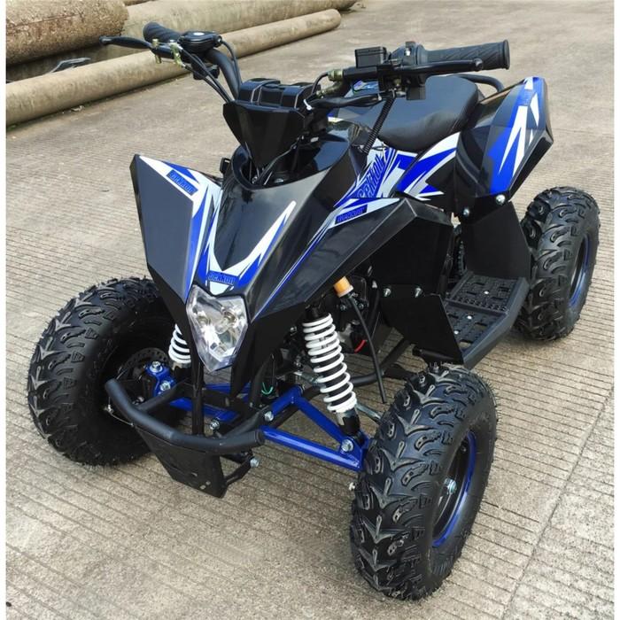 Детский квадроцикл бензиновый MOTAX GEKKON 70cc 1+1 (реверс), черно-синий
