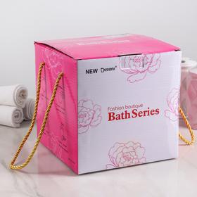 Набор аксессуаров для ванной комнаты «Цветение», 3 предмета (дозатор 300 мл, мыльница, стакан) - фото 4649583