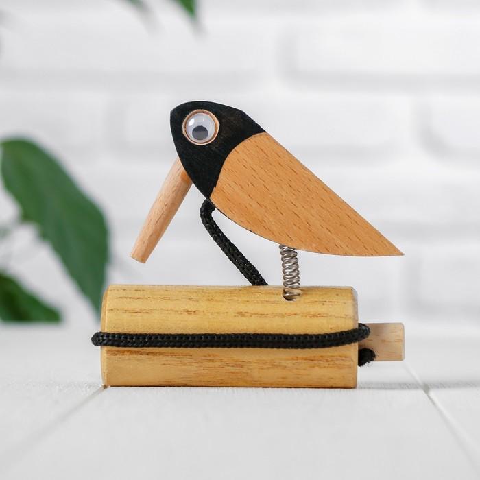 Игрушка музыкальная «Стучалка птичка» 3,3×8×10 см