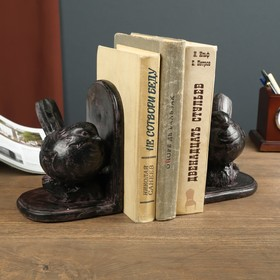 """Bookends """"the pot-Bellied Sparrow"""" set of 2 pieces 16,5x11,5x12,5 cm"""
