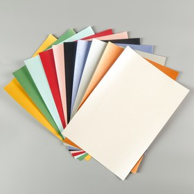 """Набор цветной бумаги """"Перламутровая"""" 10 листов 10 цветов,80 г/м2, 21х29,7 см"""