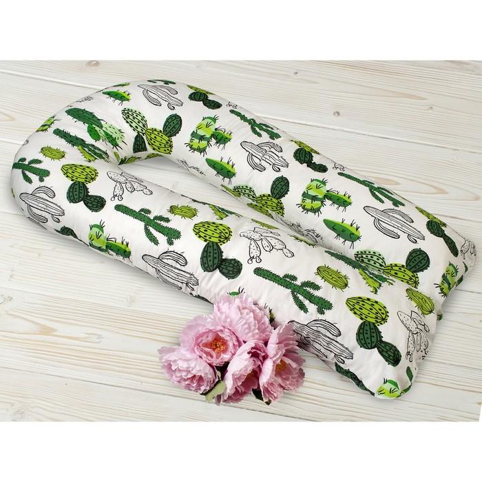 Подушка WB для беременных U-образная, размер 35 × 340 см, принт кактусы