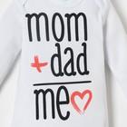 """Боди Крошка Я """"Mom+Dad"""", белый, рост 62-68 см - фото 105479343"""