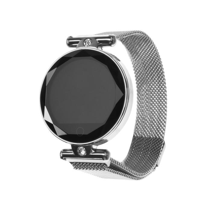 """Смарт-часы Smarterra SmartLife VEGA, сенсорный дисплей 1.08"""", цвет серебро"""