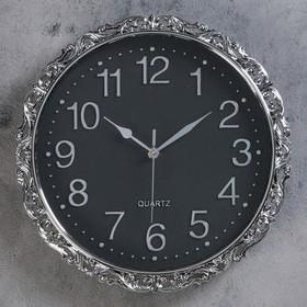 """Часы настенные, серия: Интерьер, """"Офелия"""",  d=31 см, 1 АА,  плавный ход"""