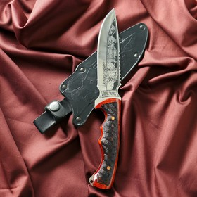 """Нож туристический """"Викинг"""" рукоять жженый орех, сталь 40х13"""
