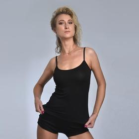 Pajamas for women (T-shirt, shorts) NIKA, black, size 52