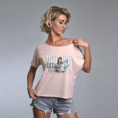 T-shirt STYLE, color light pink, size 44