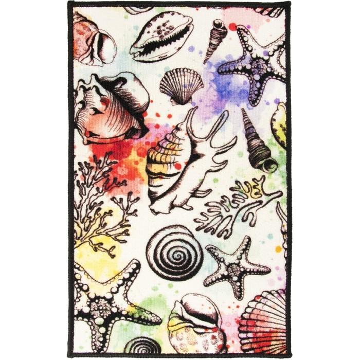 Коврик «Розетта Дижитал», размер 50 × 80 см, медуза - фото 7929362