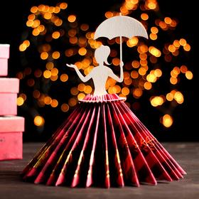 Салфетница «Девушка с зонтиком», 25×13×13 см