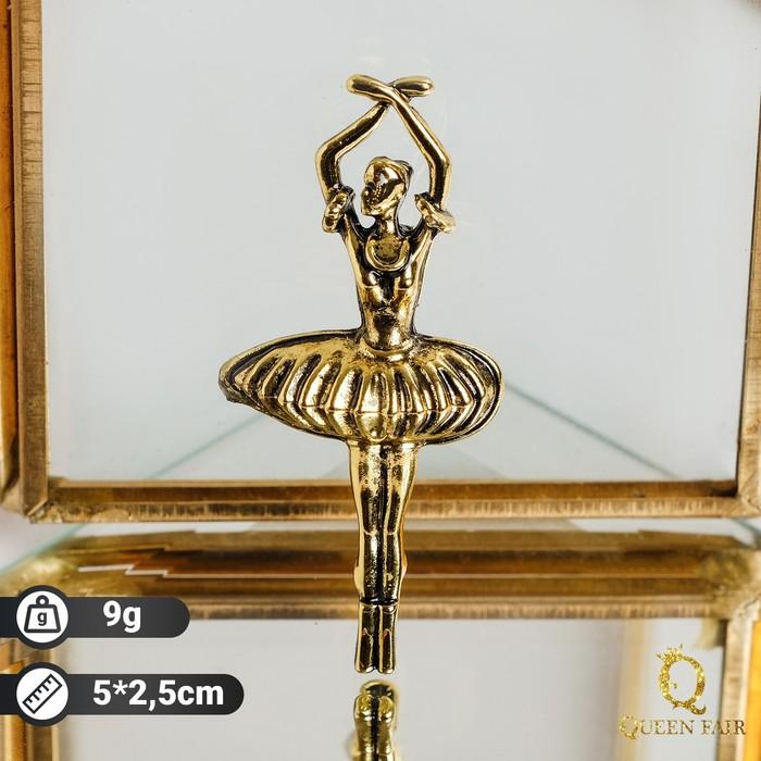 """Брошь """"Балерина"""", цвет чернёное золото"""