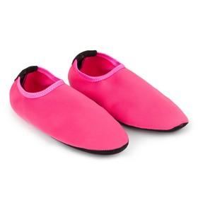 Аквашузы женские MINAKU «Пляжные», цвет розовый, размер 36-37