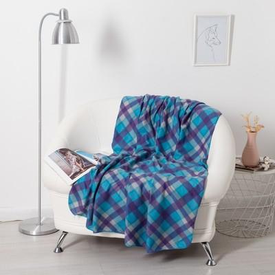 Plaid Belezza breeze 120х150см, blue, fleece, 190g/m, PE100%