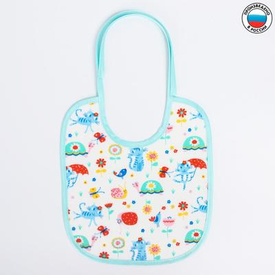 Bib 20*22 cm, art 0086, PVC/Flannel, color and pattern MIX